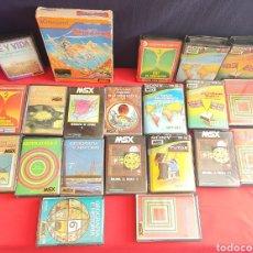 Videojuegos y Consolas: GRAB LOTE DE CASSETES DE MSX. Lote 244667020