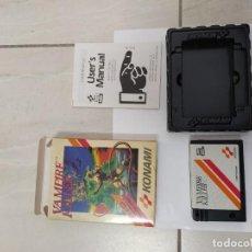 Videojuegos y Consolas: VAMPIRE KILLER MSX MSX2 COMPLETO EUROPE ORIGINAL 100% KONAMI. Lote 246369910