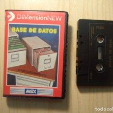 Videojuegos y Consolas: JUEGO 'BASE DE DATOS' MSX. Lote 248000725