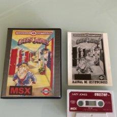 Videojuegos y Consolas: MSX - LAZY JONES (COMPLETO). Lote 250293085