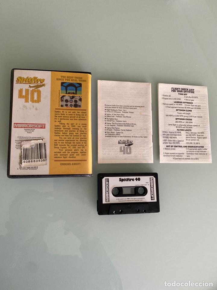 Videojuegos y Consolas: MSX - Spitfire 40 (COMPLETO) 1a Edición Original de MIRRORSOFT - Foto 2 - 251353945