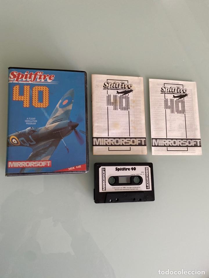 MSX - SPITFIRE 40 (COMPLETO) 1A EDICIÓN ORIGINAL DE MIRRORSOFT (Juguetes - Videojuegos y Consolas - Msx)