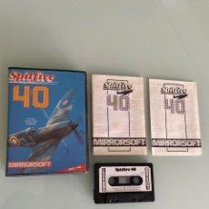 Videojuegos y Consolas: MSX - SPITFIRE 40 (COMPLETO) 1A EDICIÓN ORIGINAL DE MIRRORSOFT. Lote 251353945