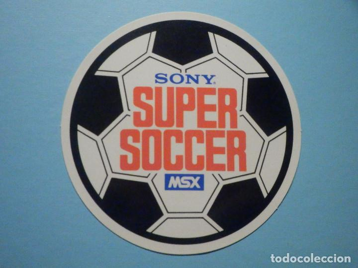 PEGATINA - ADHESIVO - STICKER - SONY MSX - SUPER SOCCER - 9,5 CM (Juguetes - Videojuegos y Consolas - Msx)