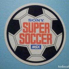 Videojuegos y Consolas: PEGATINA - ADHESIVO - STICKER - SONY MSX - SUPER SOCCER - 9,5 CM. Lote 251589380