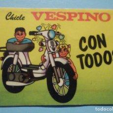 Videojuegos y Consolas: PEGATINA - ADHESIVO - STICKER - CHICLE VESPINO - CON TODOS - 4,5 X 6 CM.. Lote 251589705