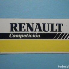 Videojuegos y Consolas: PEGATINA - ADHESIVO - STICKER - RENAULT COMPETICIÓN - 4 X 10 CM.. Lote 251589930
