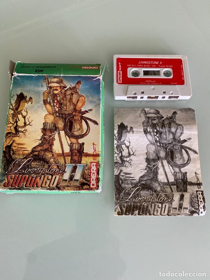 MSX - LIVINGSTONE SUPONGO II / (COMPLETO) - OPERA SOFT (Juguetes - Videojuegos y Consolas - Msx)