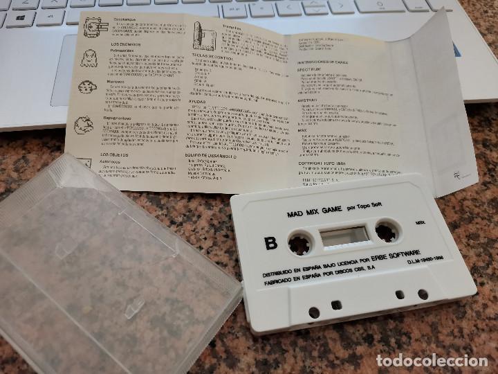 Videojuegos y Consolas: Ocasion coleccionista !! Antiguo Juego consola MSX MAD MIX GAME ERBE SOFTWARE 1988 - Foto 2 - 251659405