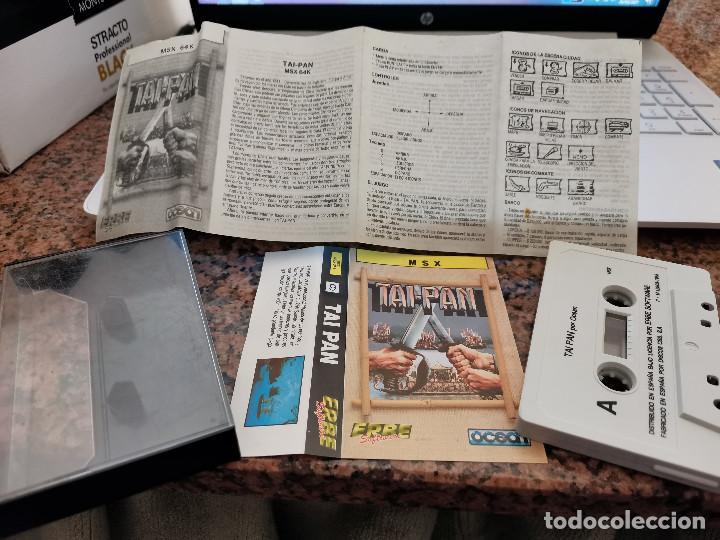 OCASION COLECCIONISTA ANTIGUO JUEGO CONSOLA MSX TAI-PAN ERBE SOFTWARE OCEAN 1988 CON INSTRUCCIONES ! (Juguetes - Videojuegos y Consolas - Msx)
