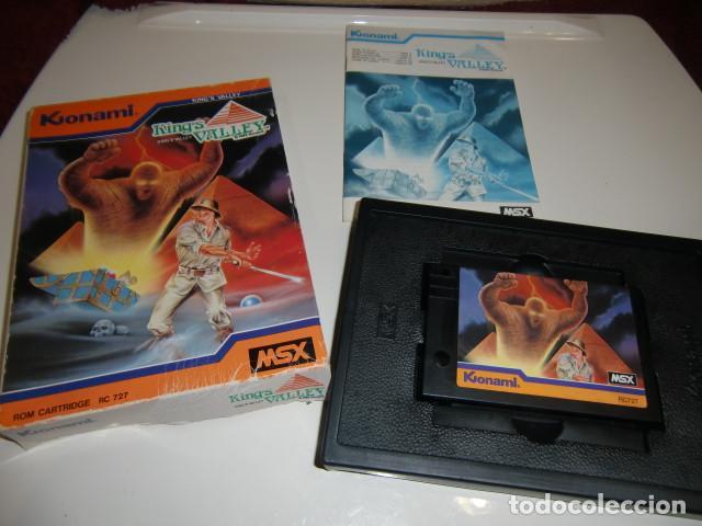 KING´S VALLEY MSX KONAMI COMPLETO 1985 - CAJA ALGO DETERIORADA VER FOTOS (Juguetes - Videojuegos y Consolas - Msx)