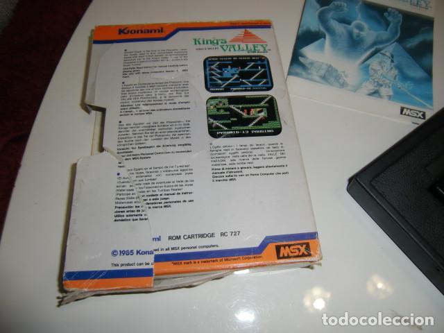Videojuegos y Consolas: King´s Valley msx konami completo 1985 - caja algo deteriorada ver fotos - Foto 2 - 252853595
