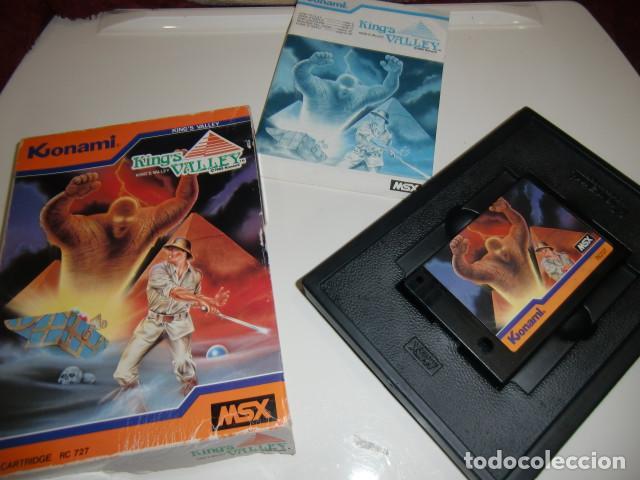 Videojuegos y Consolas: King´s Valley msx konami completo 1985 - caja algo deteriorada ver fotos - Foto 3 - 252853595