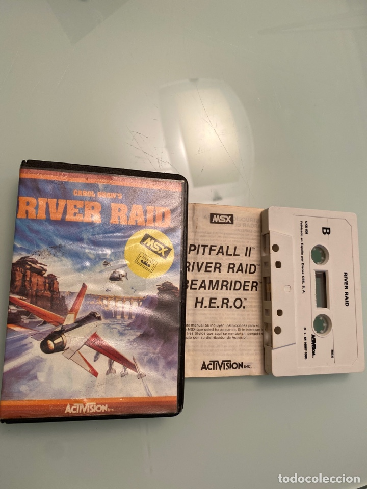 MSX - RIVER RAID (COMPLETO) (Juguetes - Videojuegos y Consolas - Msx)