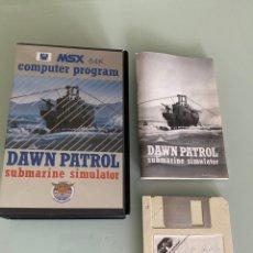 Videojuegos y Consolas: MSX - DISKETTE - DAWN PATROL - DISCO. Lote 253774160