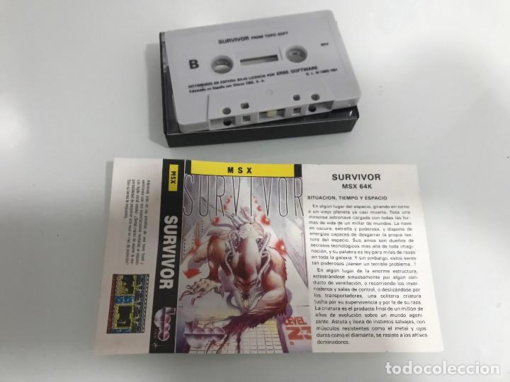 Videojuegos y Consolas: Survivor juego MSX Topo - Foto 2 - 254255925