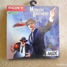 Videojuegos y Consolas: JUEGO ORIGINAL MIDNIGHT BROTHERS MSX NUEVO!! SIN ABRIR CON EL FILM ORIGINAL SONY 1986 HIT BIT. Lote 254322235