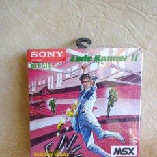 Videojuegos y Consolas: JUEGO ORIGINAL LODE RUNNER II MSX NUEVO!! SIN ABRIR CON EL FILM ORIGINAL SONY 1983 HIT BIT. Lote 254322415