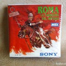 Videojuegos y Consolas: JUEGO ORIGINAL ROMA LA CONQUISTA DEL IMPERIO MSX SONY IDEALOGIC. Lote 254385315