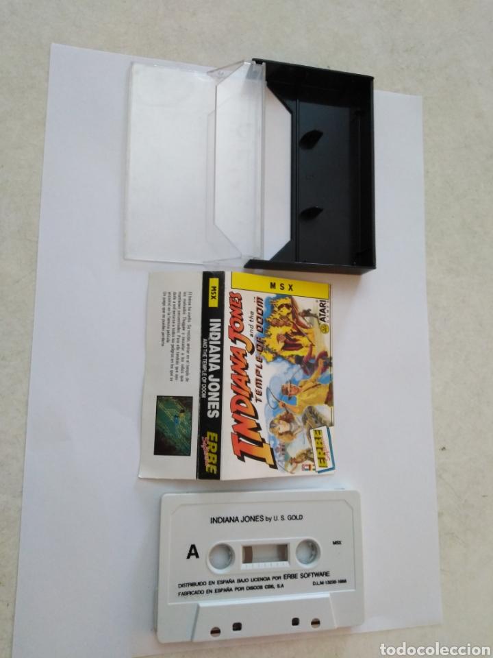 Videojuegos y Consolas: Juego msx ( ERBE, ATARI ) Indiana Jones and the Temple of doom - Foto 2 - 254971425