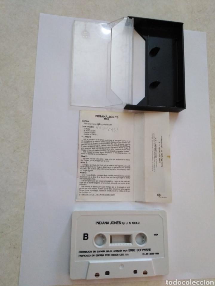 Videojuegos y Consolas: Juego msx ( ERBE, ATARI ) Indiana Jones and the Temple of doom - Foto 3 - 254971425