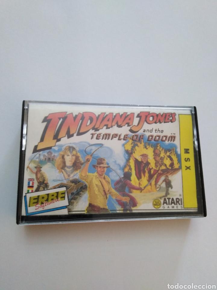 JUEGO MSX ( ERBE, ATARI ) INDIANA JONES AND THE TEMPLE OF DOOM (Juguetes - Videojuegos y Consolas - Msx)