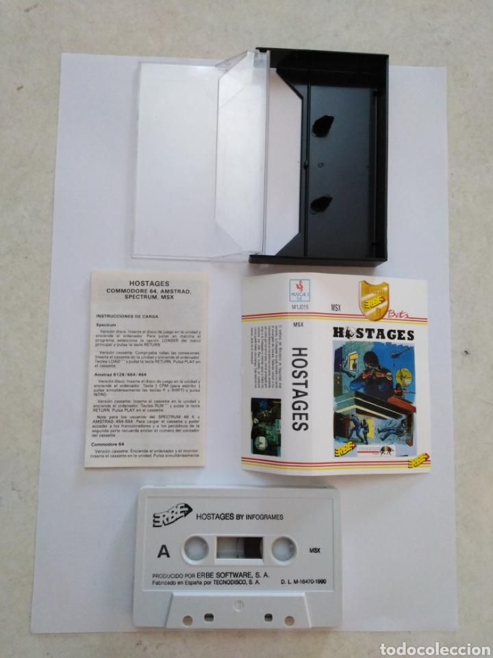 Videojuegos y Consolas: Juego msx ( ERBE ) Hostages - Foto 2 - 254982180