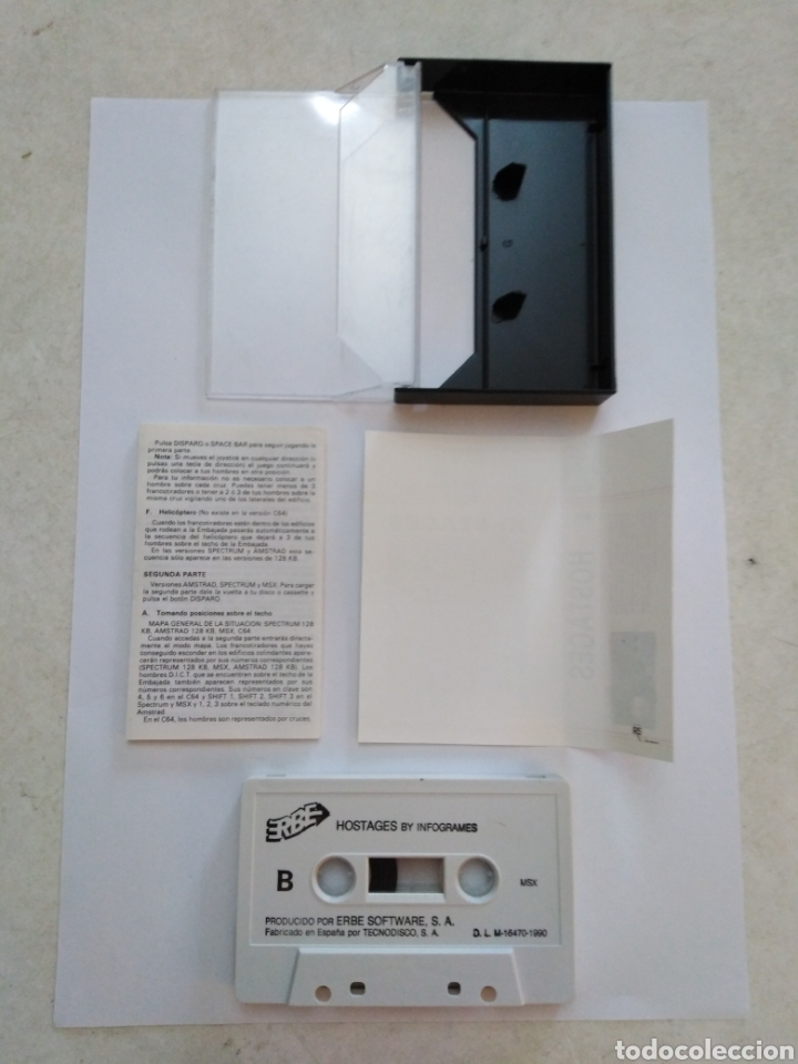 Videojuegos y Consolas: Juego msx ( ERBE ) Hostages - Foto 3 - 254982180