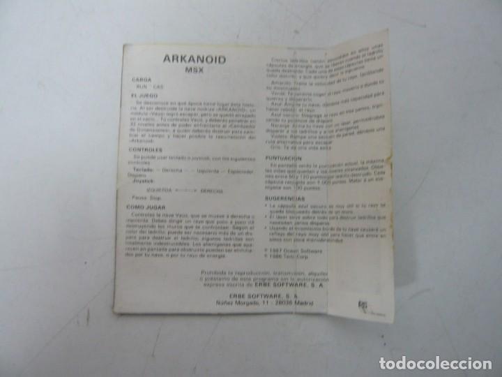 Videojuegos y Consolas: ARKANOID / Jewel Case / MSX / Retro Vintage / Cassette - Cinta - Foto 3 - 255423335