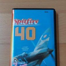 Videojuegos y Consolas: JUEGO MSX MSX2 SPTFIRE 40 MIRRORSOFT ZAFIRO FUNCIONANDO PERFECTAMENTE. Lote 262571275