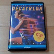 Videojuegos y Consolas: JUEGO MSX MSX2 DECATHLON ACTIVISION 1984 FUNCIONANDO PERFECTAMENTE. Lote 262571595