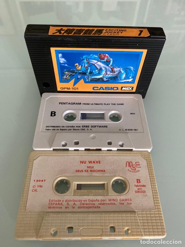 MSX - LOTE JUEGOS EN CARTUCHO Y CASSETTE (FUNCIONAMIENTO VERIFICADO) (Juguetes - Videojuegos y Consolas - Msx)