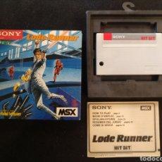 Videojuegos y Consolas: JUEGO LODE RUNNER, MSX. BUEN ESTADO. Lote 262713050