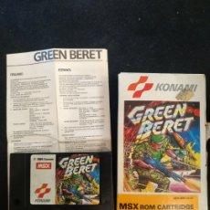 Videojuegos y Consolas: JUEGO GREEN BERET, MSX 1986. Lote 262785000