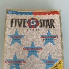Videojuegos y Consolas: MSX - FIVE 5 STAR GAMES (CARGA VERIFICADA) - SOLO CINTA 1 (ELIDON - MANIC MINER - BARNSTORMER ). Lote 254360830