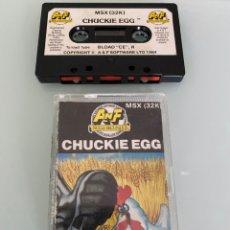 Videojuegos y Consolas: MSX - CHUCKIE EGG (1RA EDICIÓN ORIGINAL UK). Lote 265463989