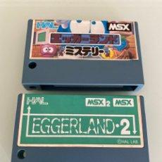 Videojuegos y Consolas: MSX - COLECCIÓN EGGERLAND MISTERY 1 Y 2 - HAL LABORATORY. Lote 265537899