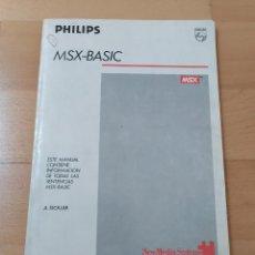 """Videojuegos y Consolas: LIBRO MANUAL ORDENADORES MSX """"MSX-BASIC"""" PHILIPS 1986 8020 BUEN ESTADO. Lote 267603624"""