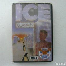 Videojuegos y Consolas: ICE / MSX CINTA / VER FOTOS / RETRO VINTAGE CASSETTE. Lote 267817779