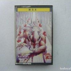 Videojuegos y Consolas: SURVIVOR / MSX CINTA / VER FOTOS / RETRO VINTAGE CASSETTE. Lote 267818089