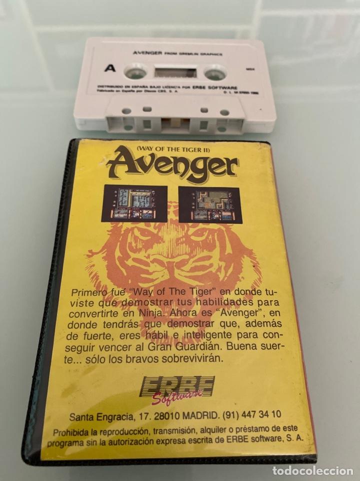 Videojuegos y Consolas: MSX - Avenger (The way of the Tiger II) / Ed. ESTUCHE - Gremiln Graphics - Foto 2 - 268619499
