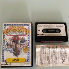 Videojuegos y Consolas: MSX - BRIAN JACKS SUPERSTAR CHALLENGE - ED. ESTUCHE - COMPLETO. Lote 269255943