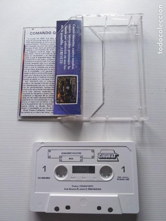 Videojuegos y Consolas: Juego Msx Comando Quatro - Foto 2 - 269612773
