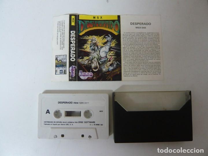 Videojuegos y Consolas: DESPERADO de TOPO SOFT / MSX / RETRO VINTAGE / CASSETTE - Foto 2 - 270569443
