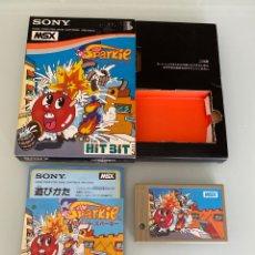 Videojuegos y Consolas: MSX - SPARKIE (KONAMI) - 1RA VERSIÓN ORIGINAL JAPONESA - COMPLETO. Lote 257406730