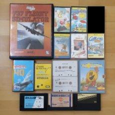 Videojuegos y Consolas: LOTE JUEGOS ORDENADOR MSX EN FORMATO CARTUCHO Y CASSETTE BUEN ESTADO. Lote 277579488
