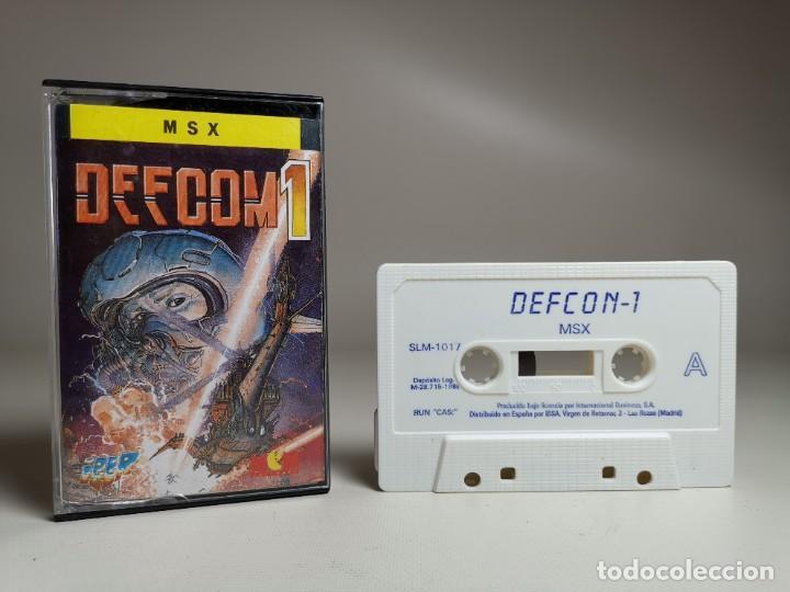 Videojuegos y Consolas: JUEGO ORIGINAL MSX-MSX2 --- DEFCOM 1 - Foto 2 - 282208218