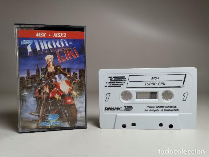 Videojuegos y Consolas: JUEGO ORIGINAL MSX-MSX2 ---TURBO GIRL - Foto 2 - 282208903