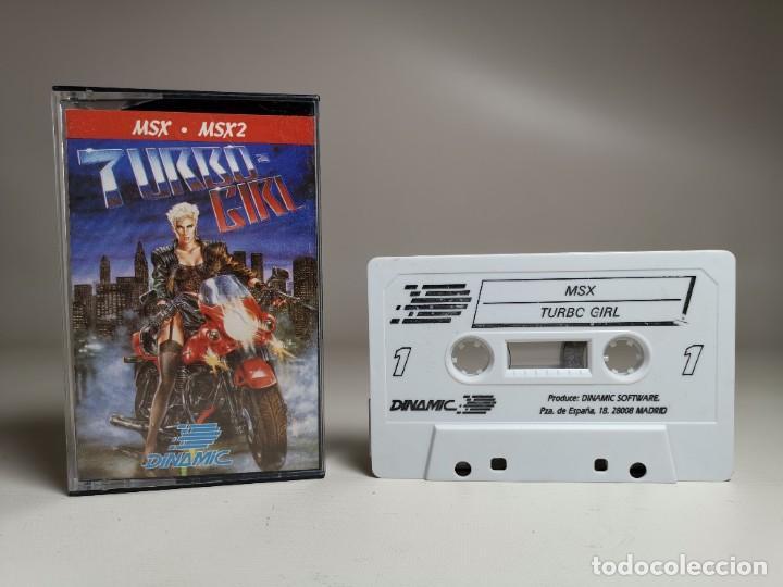 Videojuegos y Consolas: JUEGO ORIGINAL MSX-MSX2 ---TURBO GIRL - Foto 3 - 282208903