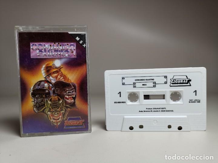 Videojuegos y Consolas: JUEGO ORIGINAL MSX-MSX2 ---COMANDO QUATRO - Foto 2 - 282209148